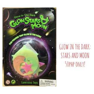 Glow in the dark: Stars and Moon