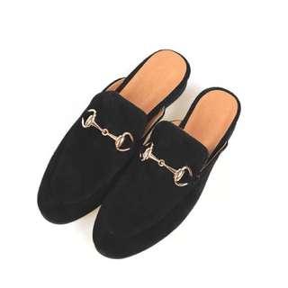 「新品推薦」韓國代購時尚百搭金屬拖鞋懶人鞋