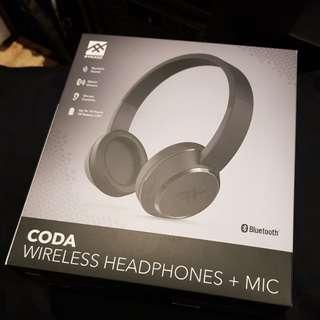 BNIB IFrogz Coda Bluetooth Headphones with Mic