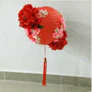 Big Handmade Red 3D Flower/ Floral Lanterns