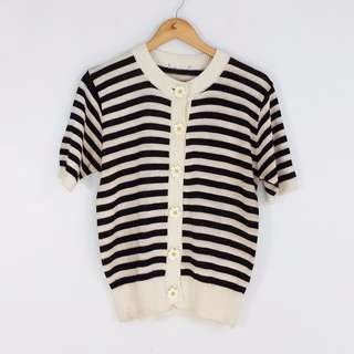 [RESERVED] #T99SALE Striped Knitted Topper Blouse