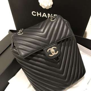 Authentic Chanel Chevron Backpack