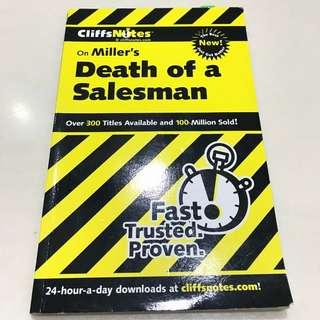 Cliff Notes: Death of A Salesman by Arthur Miller Guidebook