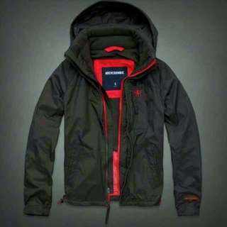 🚚 Abercrombie & Fitch 風衣外套 立領 保暖 內鋪棉 M號