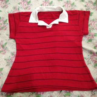 Red Stripes Polo Shirt