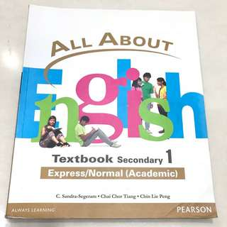 All About English Secondary 1 Exp/Na Textbook