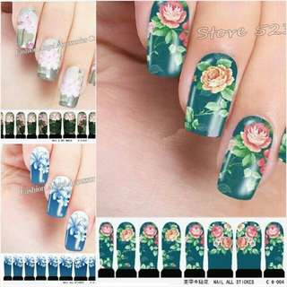 Transferable Water Nail Stickers DIY Nail Art Beauty Wraps Accessories Full Cover Nail Decals Decorations