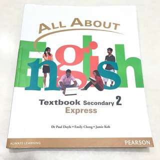 All About English Secondary 2 Express Textbook