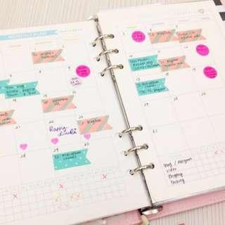 2018 planner set kit