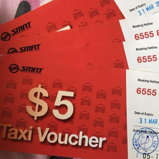 $285 SMRT Taxi Vouchers