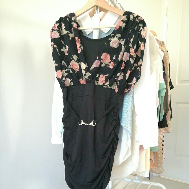 2 pieces joint slim dress