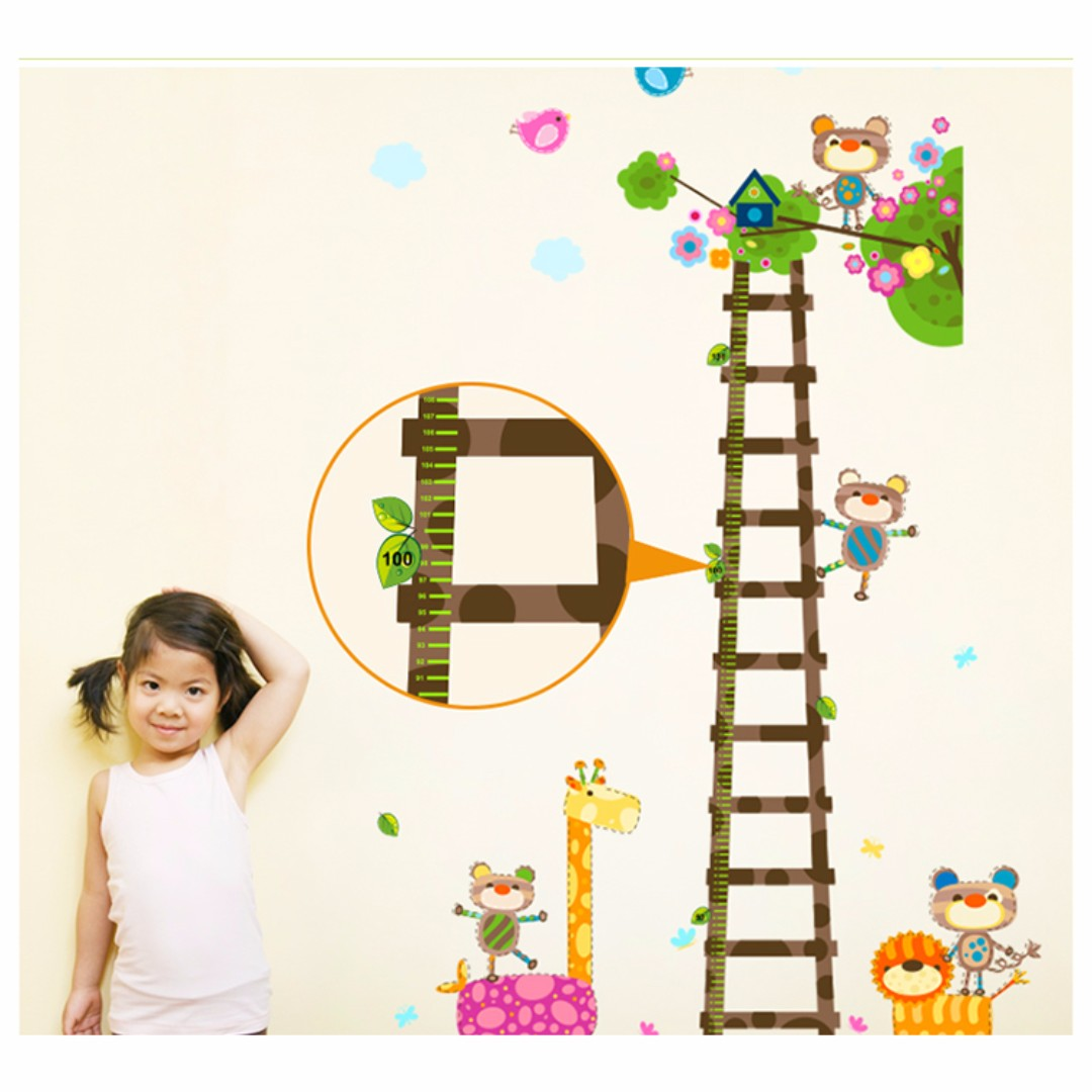 2 for 15 animal kingdom growth chart wall decal wall height animal kingdom growth chart wall decal wall height amipublicfo Gallery