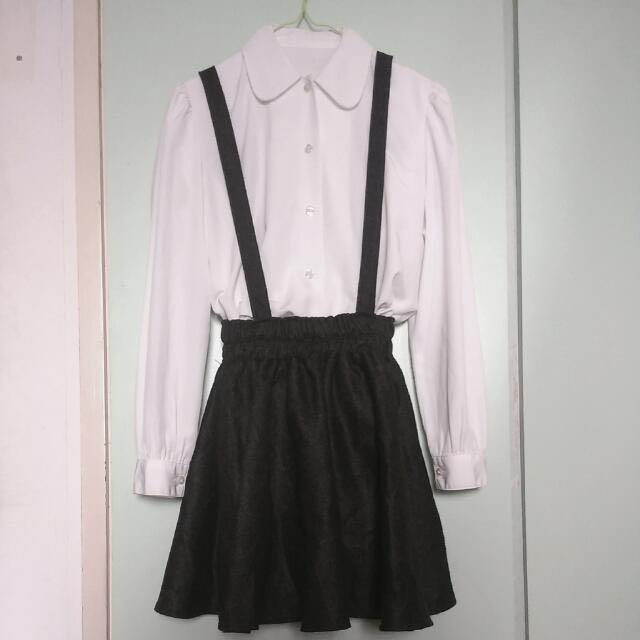 黑灰格紋吊帶裙#好物任你換