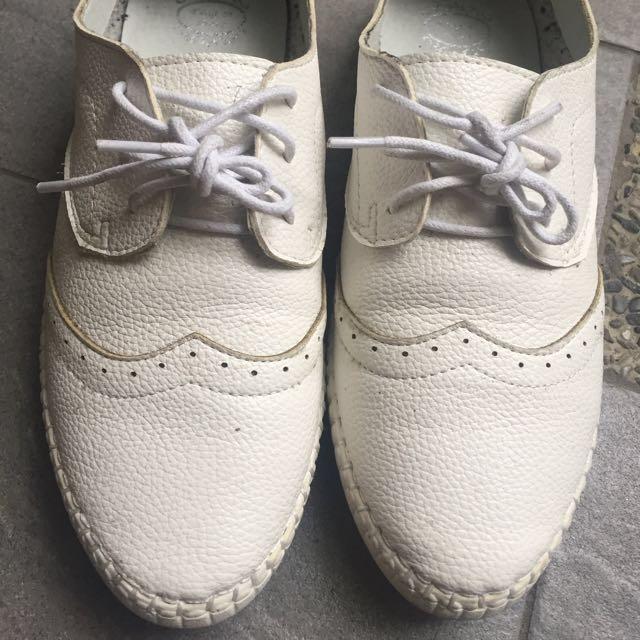軟皮牛津鞋