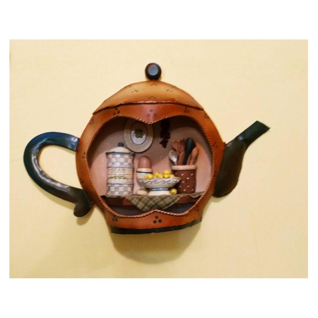 鐵製壺型下午茶掛飾(壺嘴有小壓痕)`