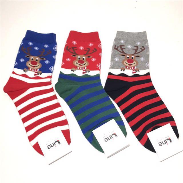 韓國帶回~🎄☃️❄️🎁🦌聖誕襪 麋鹿襪條紋襪 派對襪 短襪 中筒襪 學生襪 交換禮物 必備