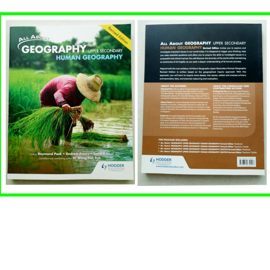 ~ Brand New All About Geography Upper Sec Human Geography Full Textbook Revised Edition for sale ~ Publisher Hodder Education