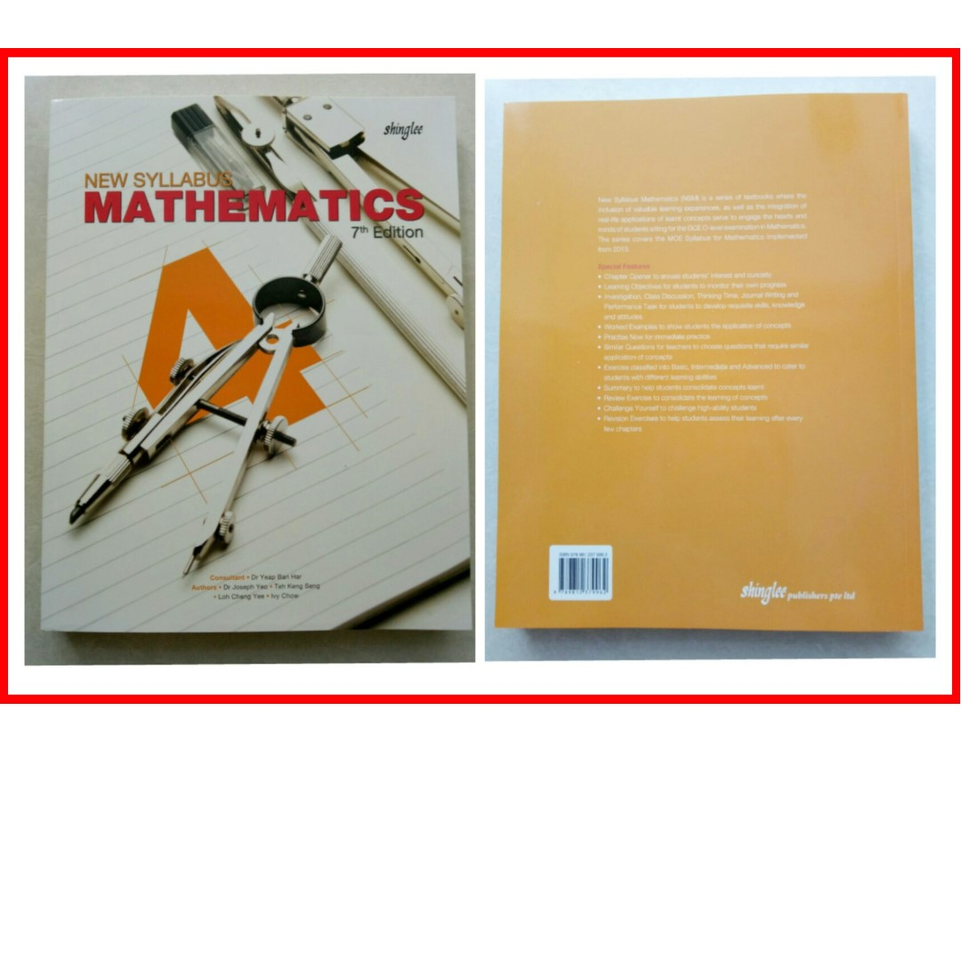 - Brand New New Syllabus Mathematics Textbook 4 Express 7th Edition for sale ~ Publisher Shing Lee