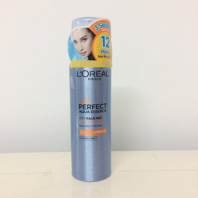 🆕 L'oreal Paris UV Perfect Aqua Essence City Face Mist Sunscreen SPF50+ PA++++