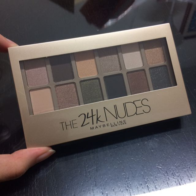🆕 Maybelline The 24K Nudes Eyeshadow Palette