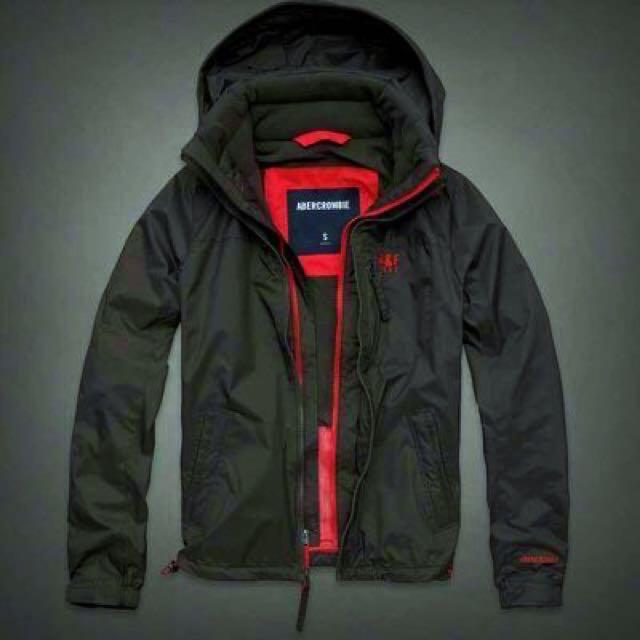 Abercrombie & Fitch 風衣外套 立領 保暖 內鋪棉 M號