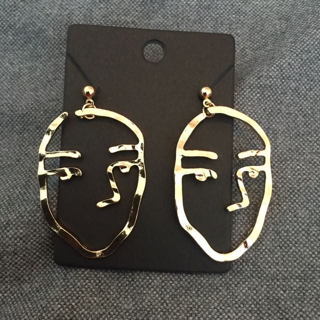 Abstract Dangling earrings