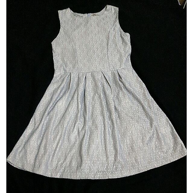 Ada Woman Jacquard Flare Dress