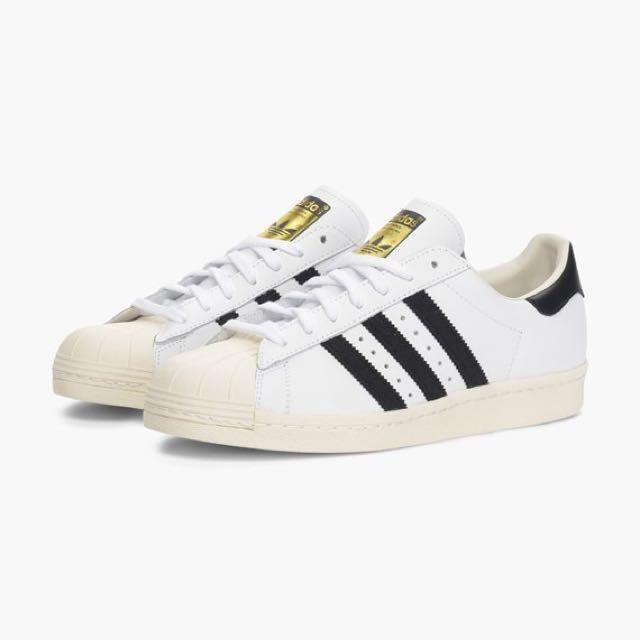 adidas Originals Superstar 80s 奶油底 23cm