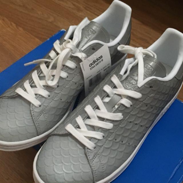 "buy online b54c1 4fb45 Adidas Stan Smith ""Grey Fishscale"", Preloved Womens Fashion, Shoes ..."