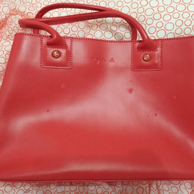 Agnes b.橘紅色包包