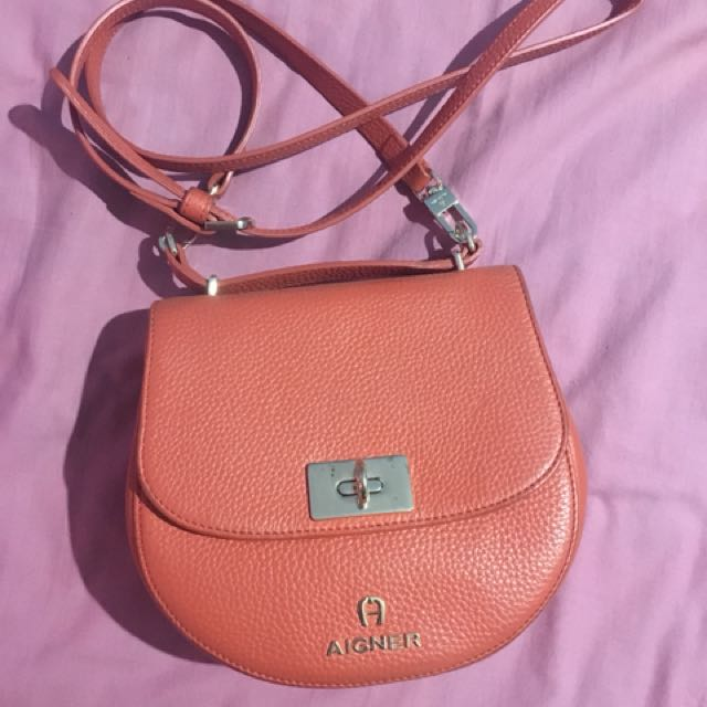 Aigner orange sling bag