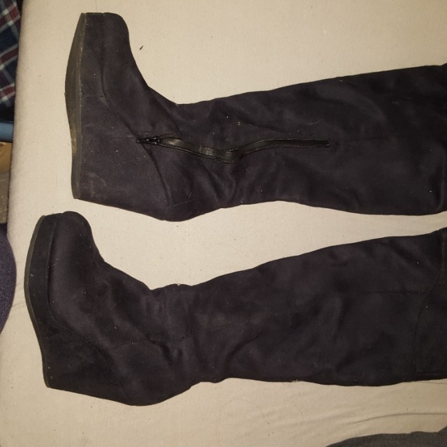 Aldo Thigh High Suede Boots