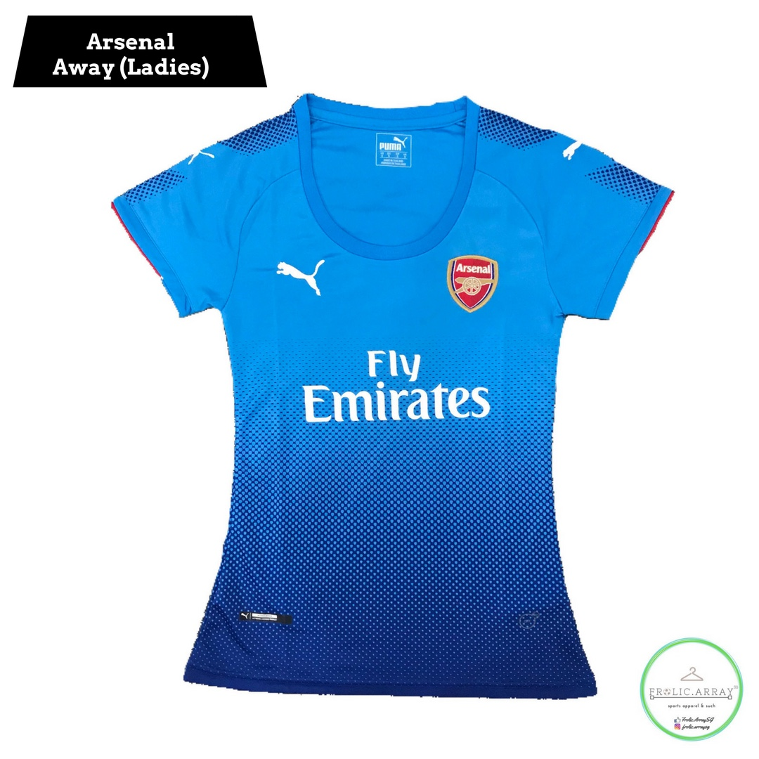 9d07f0ab10c Arsenal Away Ladies 17 18 Kit (PO)