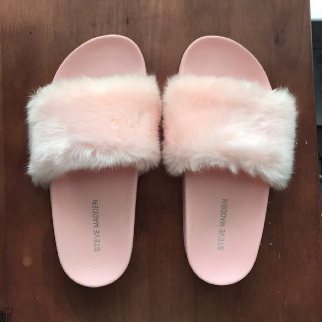 Authentic Steve Madden pink fluffy