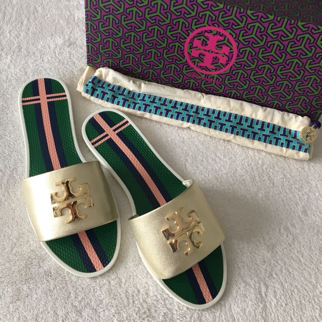Authentic TORY BURCH slip on sandals Authentic TORY BURCH slip on sandals  ...