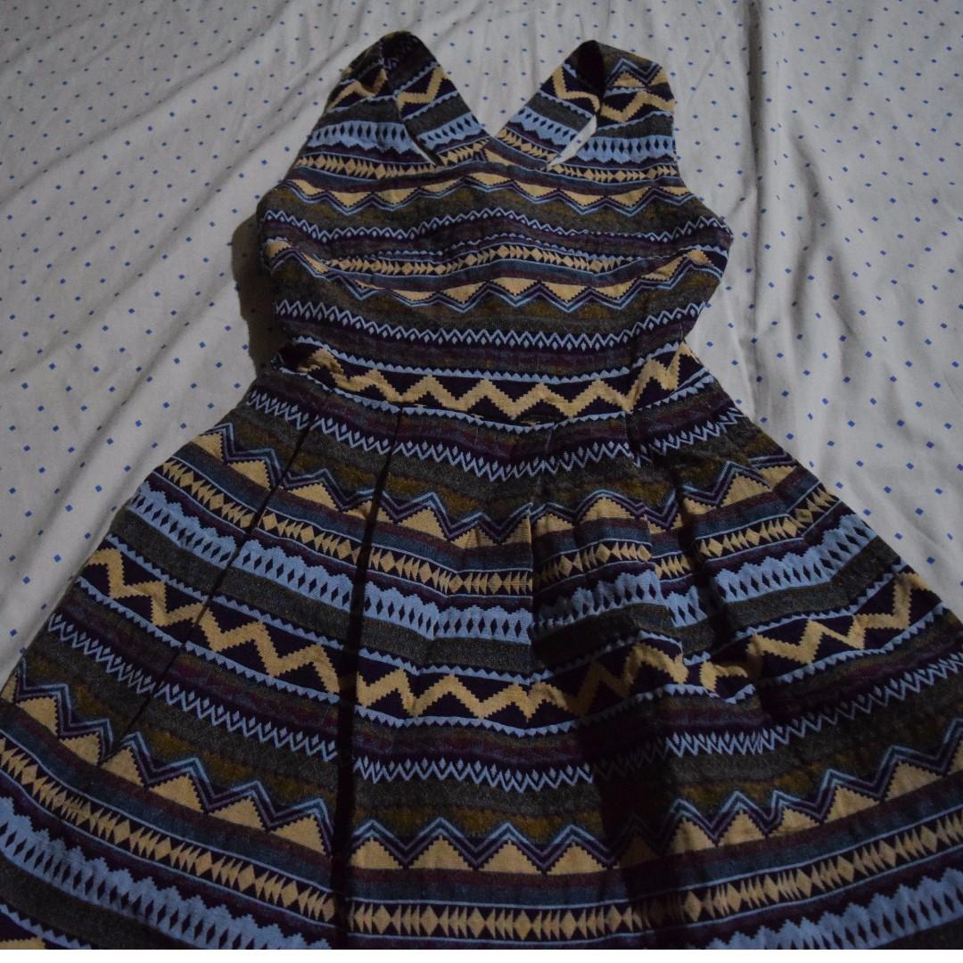 Aztec cocktail dress