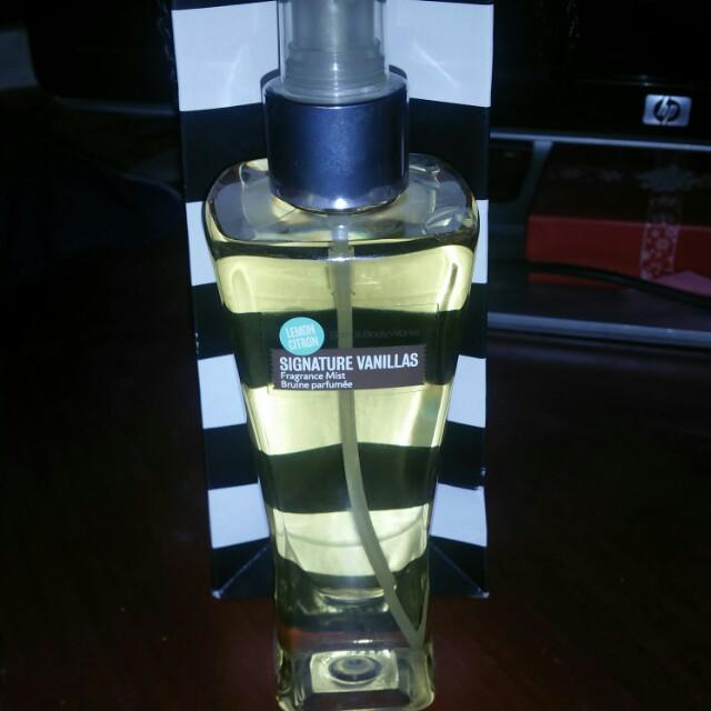 Bath & body Works limited edition vanilla lemon