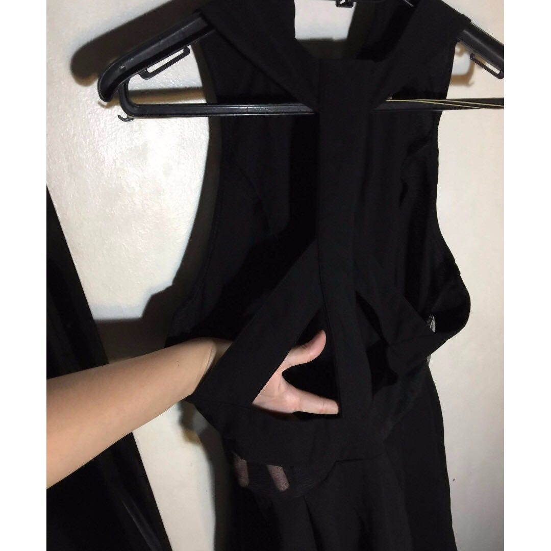 Black Cut out Sexy Dress