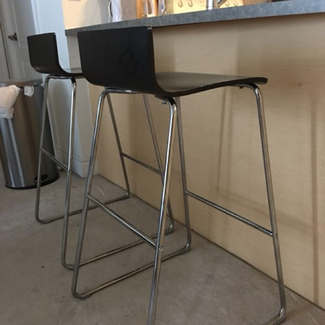Black ikea bar stools