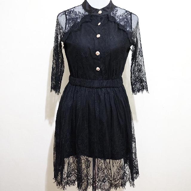 🍃Black Lace Dress