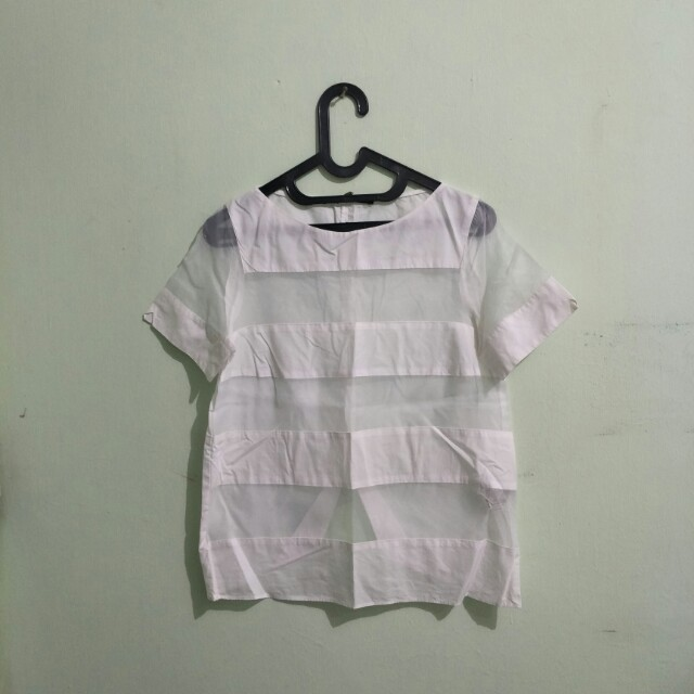 Blouse Strip Transparan