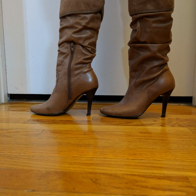 Brown knee-high boots size 6
