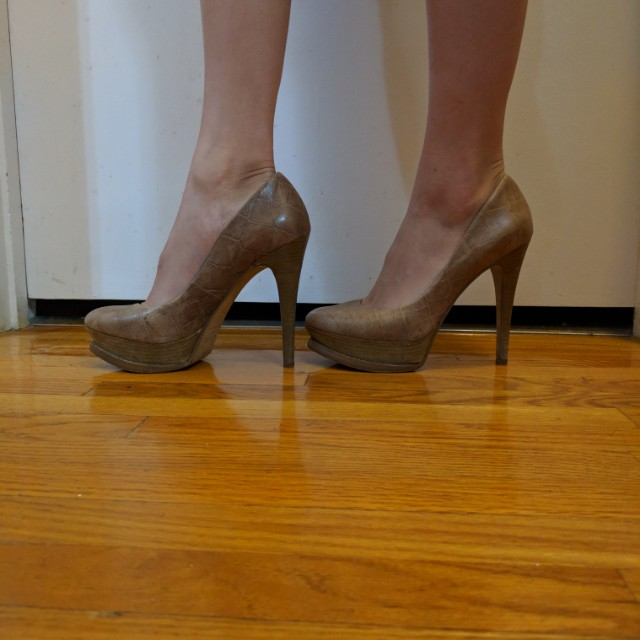 Brown tall heels size 6