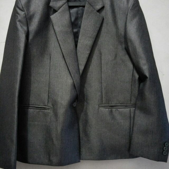 Celana dan Jas Silver