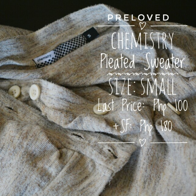 Chemistry Pleated Sweater (S)