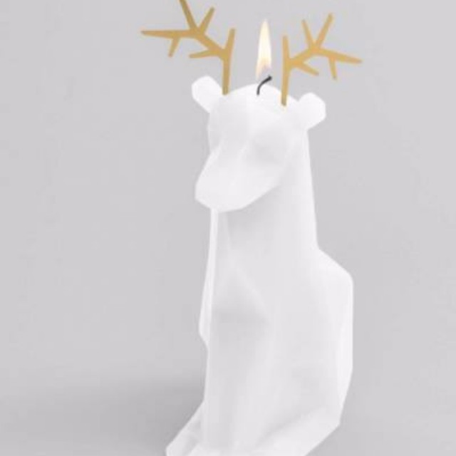 Christmas Reindeer Candle with Skeleton