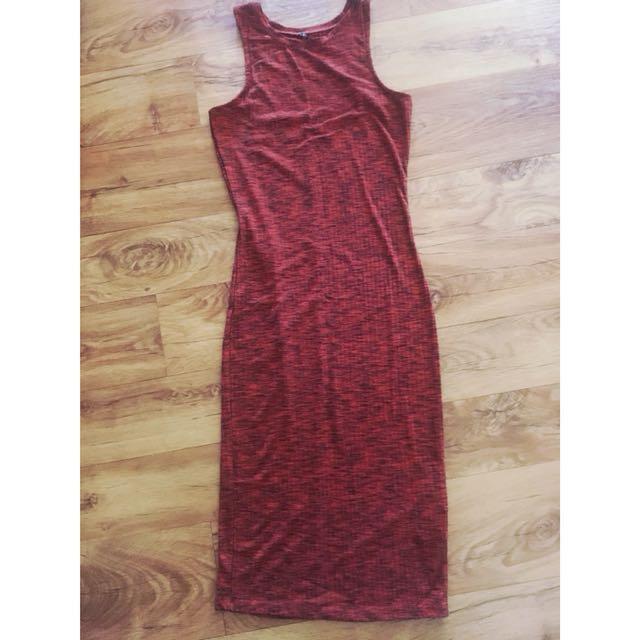 Cotton On dress red/orange