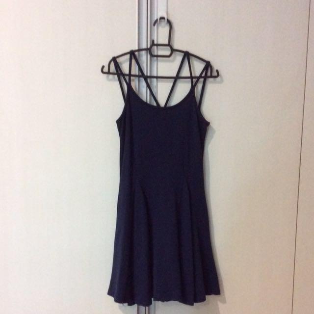 Dark Blue Strip Dress
