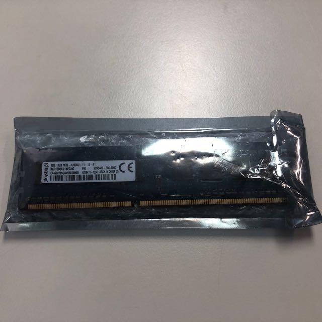 金士頓DDR3L 1600 4G記憶體