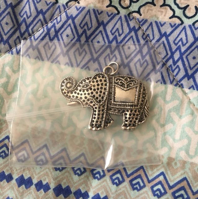 Elephant charm for necklace